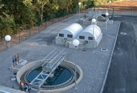 E.D.A.R. Campo (Huesca). Sewage Treatment Plant in Campo (Province of Huesca)